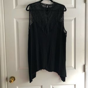 Torrid 3x mock neck lace tank